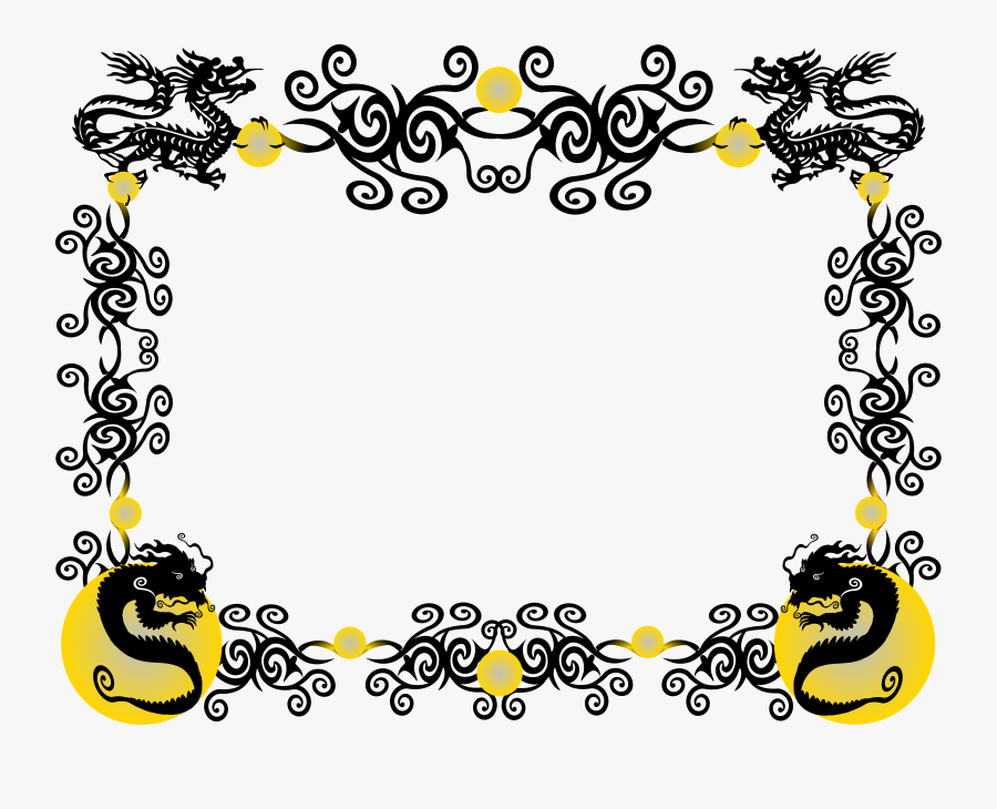 Clipart - Chinese Dragon Border Png, Transparent Clipart