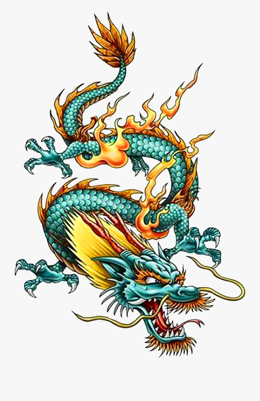 Tattoo Chinese Dragon China Legendary Creature Clipart - China Chinese Dragon Art, Transparent Clipart
