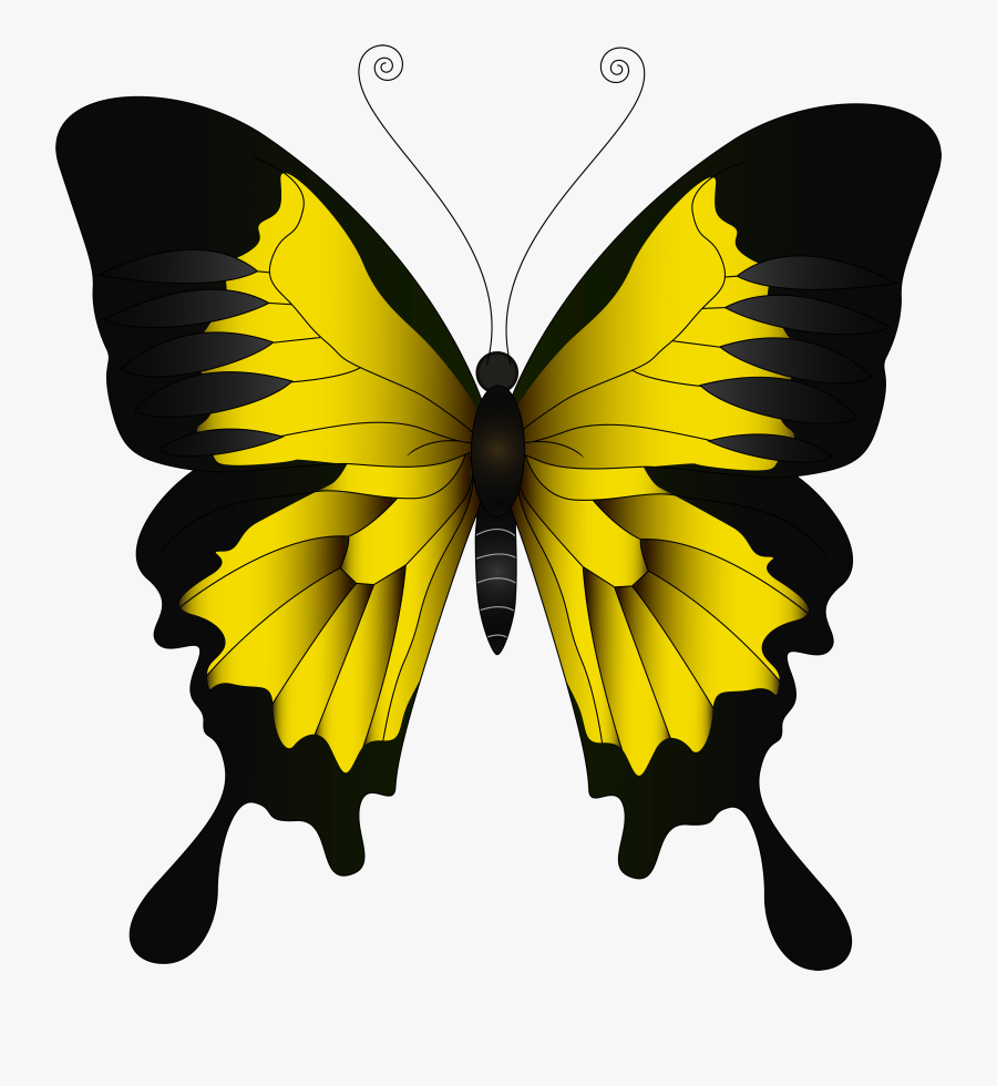 Yellow Png Clip Art - Yellow Butterfly Clip Art, Transparent Clipart