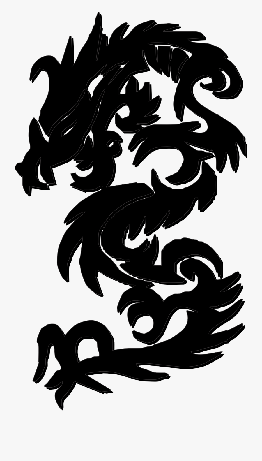 Net » Clip Art » Gustavorezende Chinese Dragon Black - Black Chinese Dragon Clipart, Transparent Clipart
