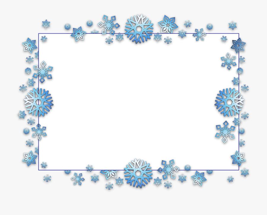 Transparent Background Snowflake Border, Transparent Clipart