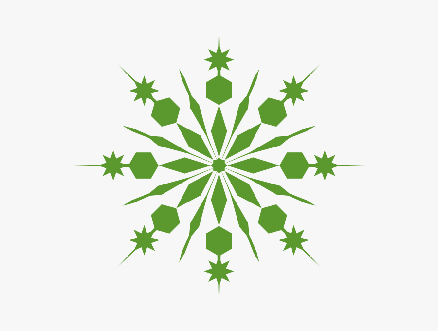 Green - Snowflake - Clipart - Transparent Background Snowflake Clip Art, Transparent Clipart
