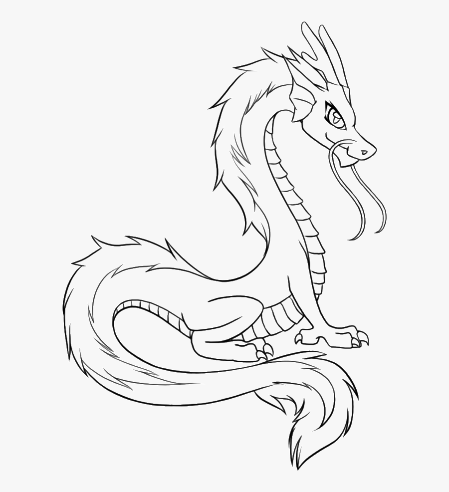 Young Dragons From Chinese Coloring Pages - Easy China Dragon Drawings, Transparent Clipart