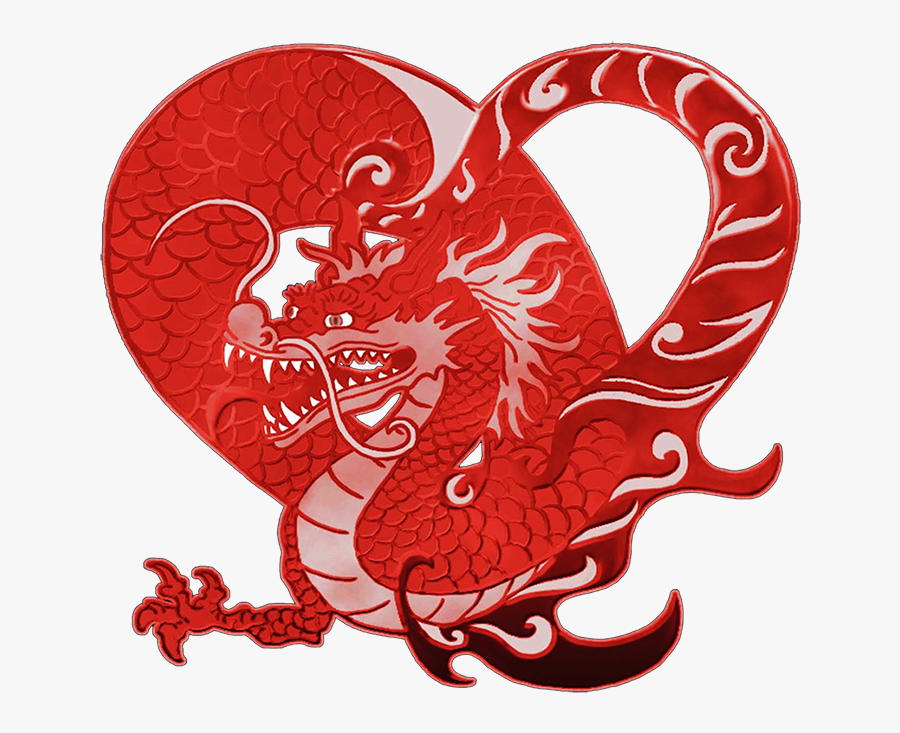 Transparent Dragons Clipart - Chinese Dragon Valentine, Transparent Clipart