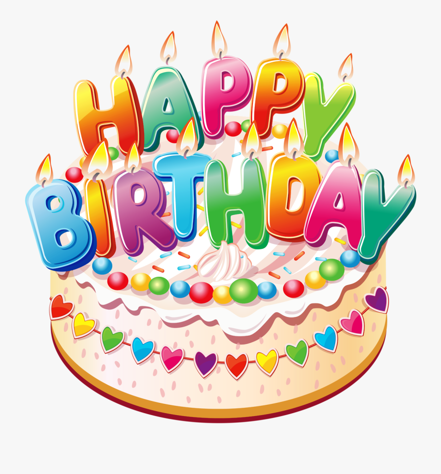 Clipart - Happy Birthday Cake Png, Transparent Clipart