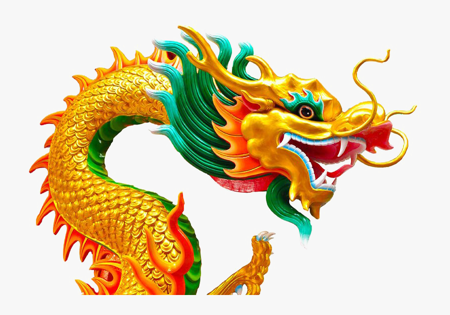 Chinese Dragon White Background, Transparent Clipart