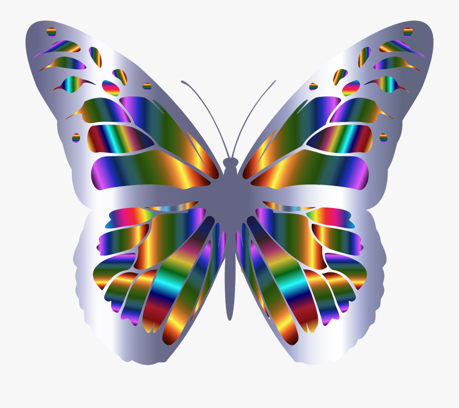 This Free Icons Png Design Of Iridescent Monarch Butterfly - Png Transparent Butterfly Clipart, Transparent Clipart
