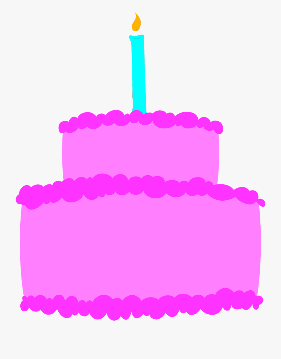 Clip Art Cake Free Stock Photo - Pink Birthday Cake Clip Art, Transparent Clipart