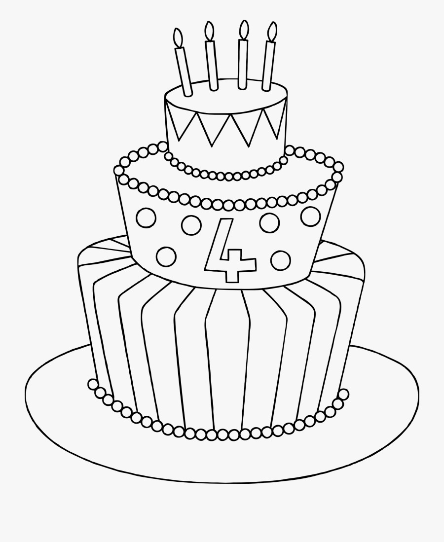 Drawing Candles Cute Transparent Png Clipart Free Download - Birthday Cake Easy Drawing, Transparent Clipart