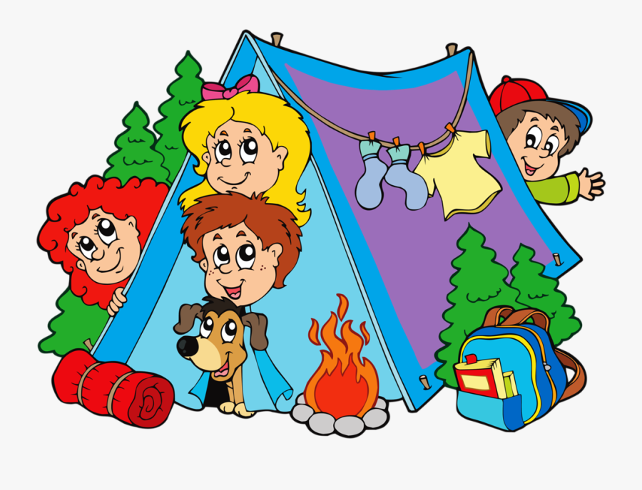 Camp Cliparts - Kids Camping Clipart, Transparent Clipart