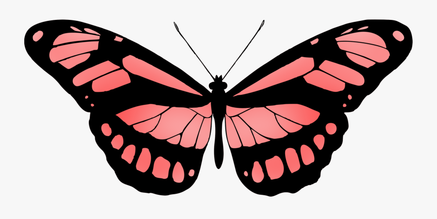 Butterfly Clip Art Red, Transparent Clipart