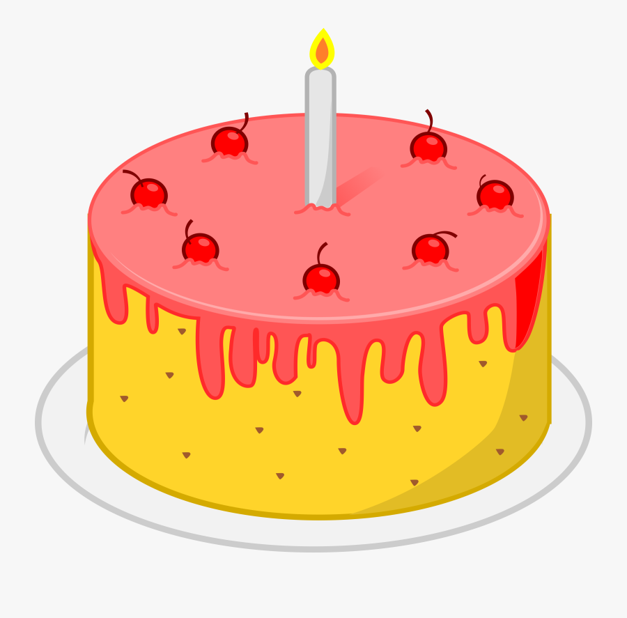 Birthday Cake Png Library - Birthday Cake Gif Png, Transparent Clipart