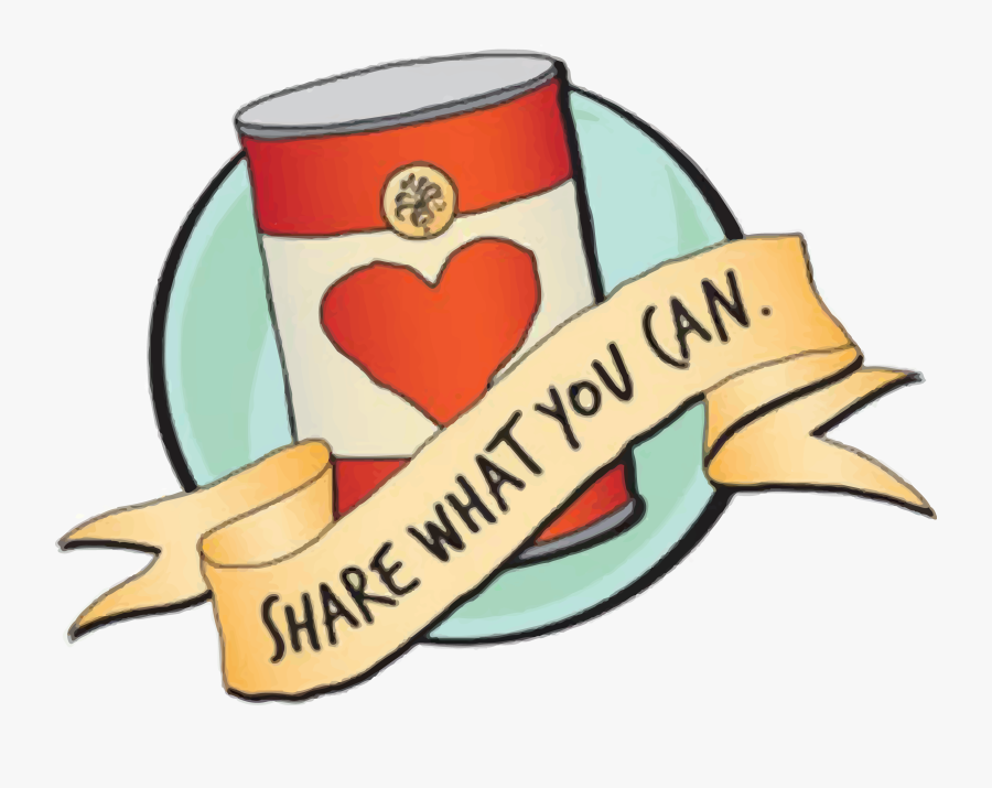 Transparent Can Clipart - Give What You Can Food Drive, Transparent Clipart
