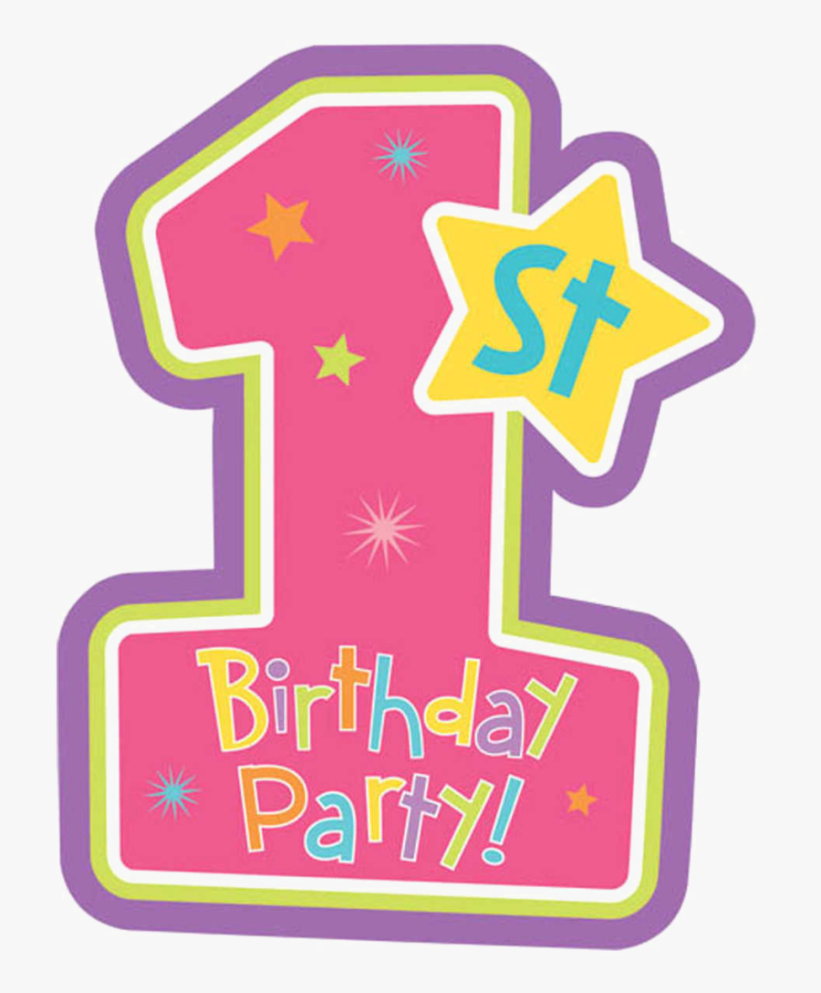 1st Birthday Candle Png - 1st Birthday Transparent Background, Transparent Clipart