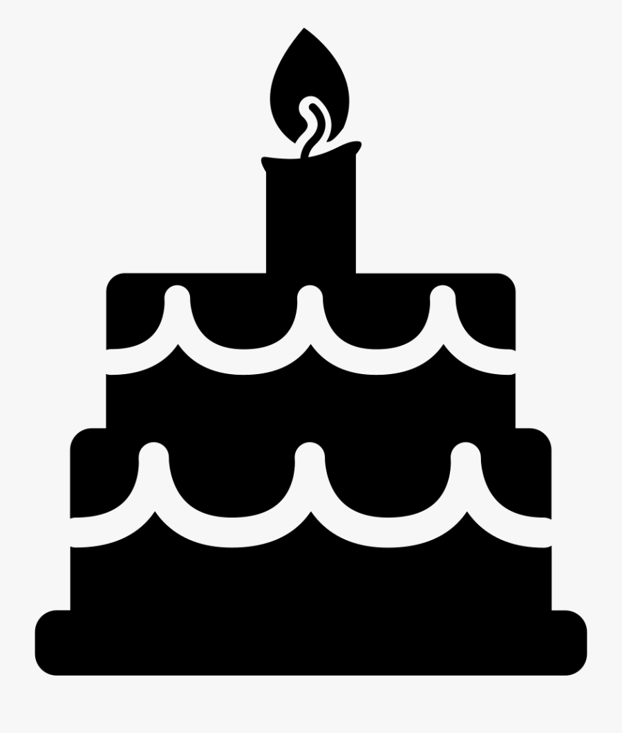 Birthday Cake Free Vector Icons Designed By Freepik - Birthday Cake Vector Icon, Transparent Clipart