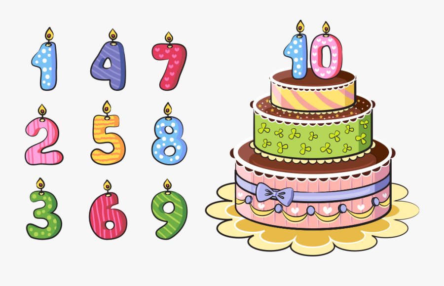 Birthday Cake Cartoon - Birthday Cake With Number Cartoon, Transparent Clipart