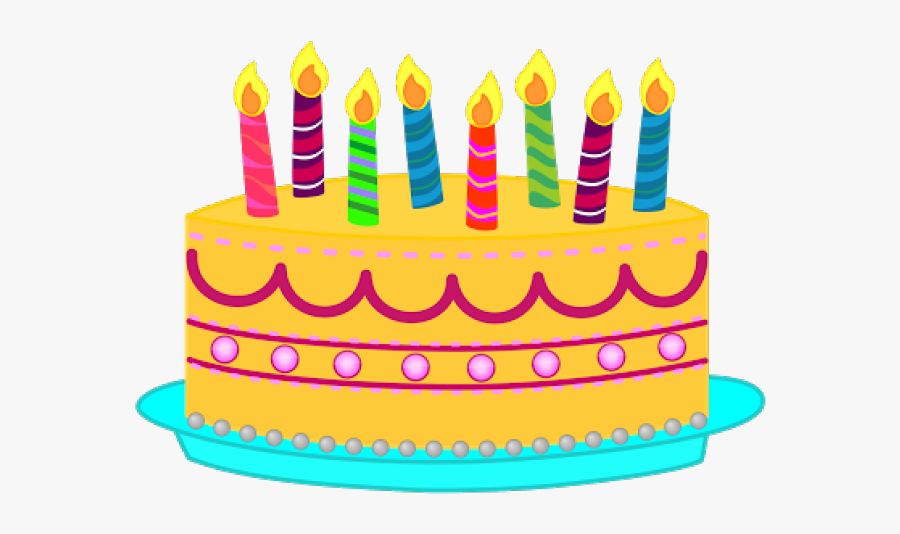 Birthday Candles Clipart Printable - Transparent Background Birthday Cake Png, Transparent Clipart