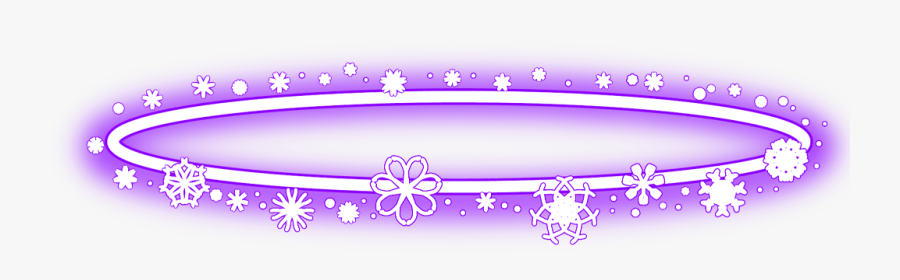 #halo #neon #christmas #snowflakes #angel #round #yellow - Neon Angel Ring Png, Transparent Clipart