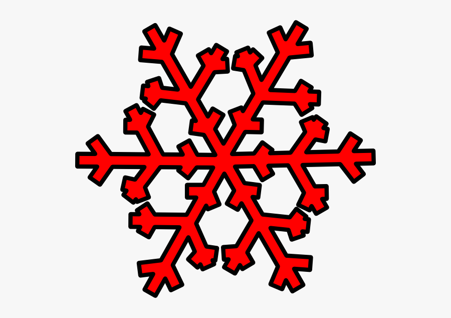 Red Snowflake Clip Art - Transparent Background Snowflake Clipart, Transparent Clipart