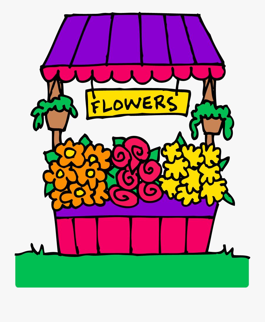 Banner Library Market Seller Free On Dumielauxepices - Flower Shop Clip Art, Transparent Clipart