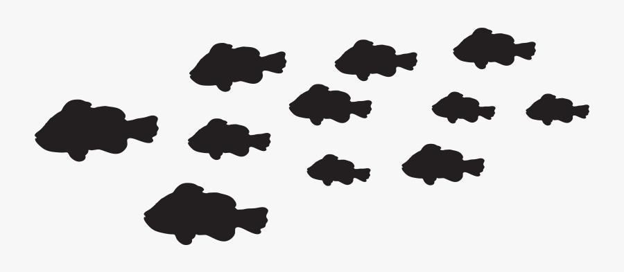 Silhouette Photography Monochrome Clip Art - Silhouette Fish Transparent Background, Transparent Clipart