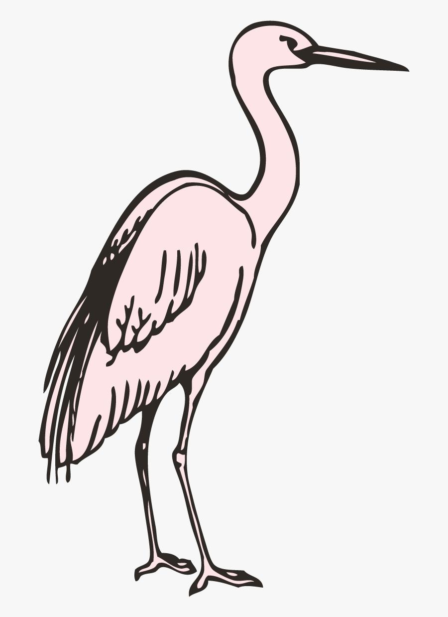 Crane Clipart Stork Bird - Crane, Transparent Clipart