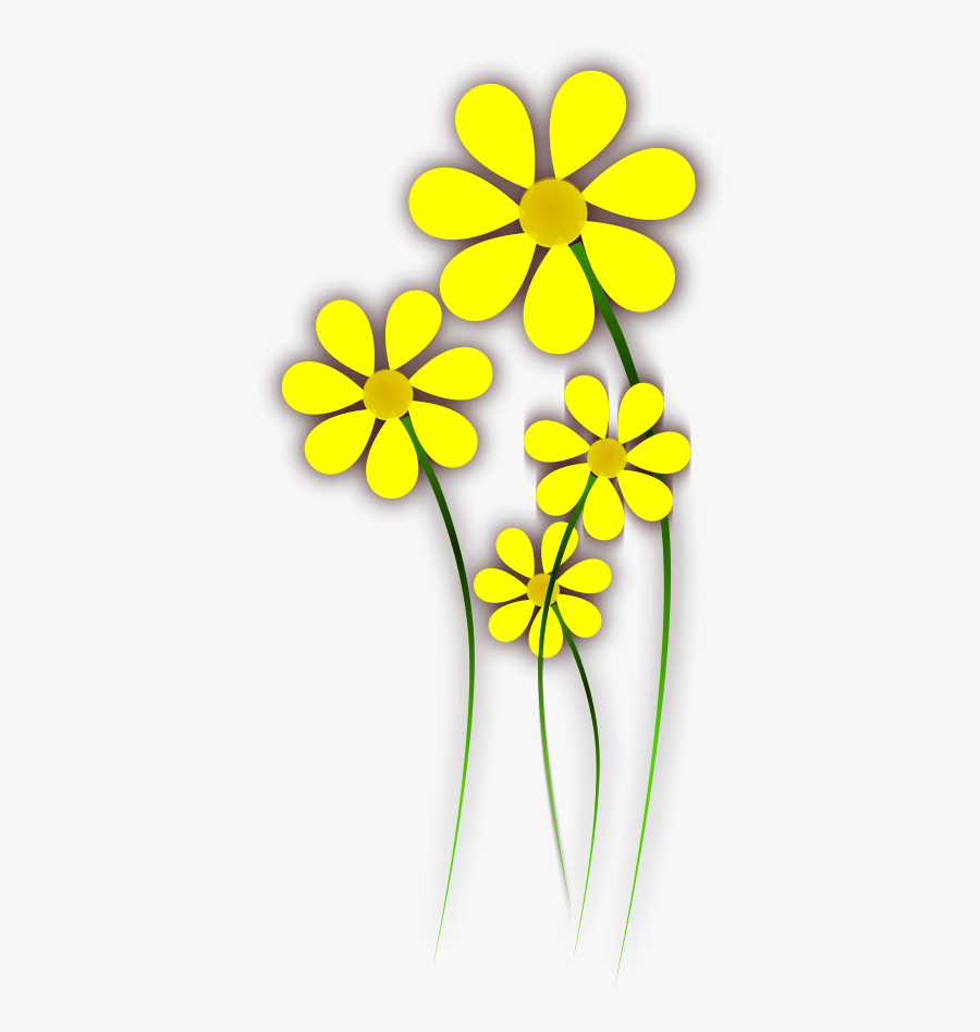 Yellow Leaf Clipart, Vector Clip Art Online, Royalty - Vector Yellow Flower Clipart Png, Transparent Clipart