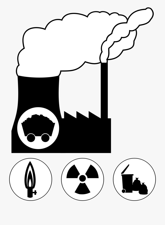 Clip Art Coal Power Plant Clipart - Coal Power Plant Clipart, Transparent Clipart
