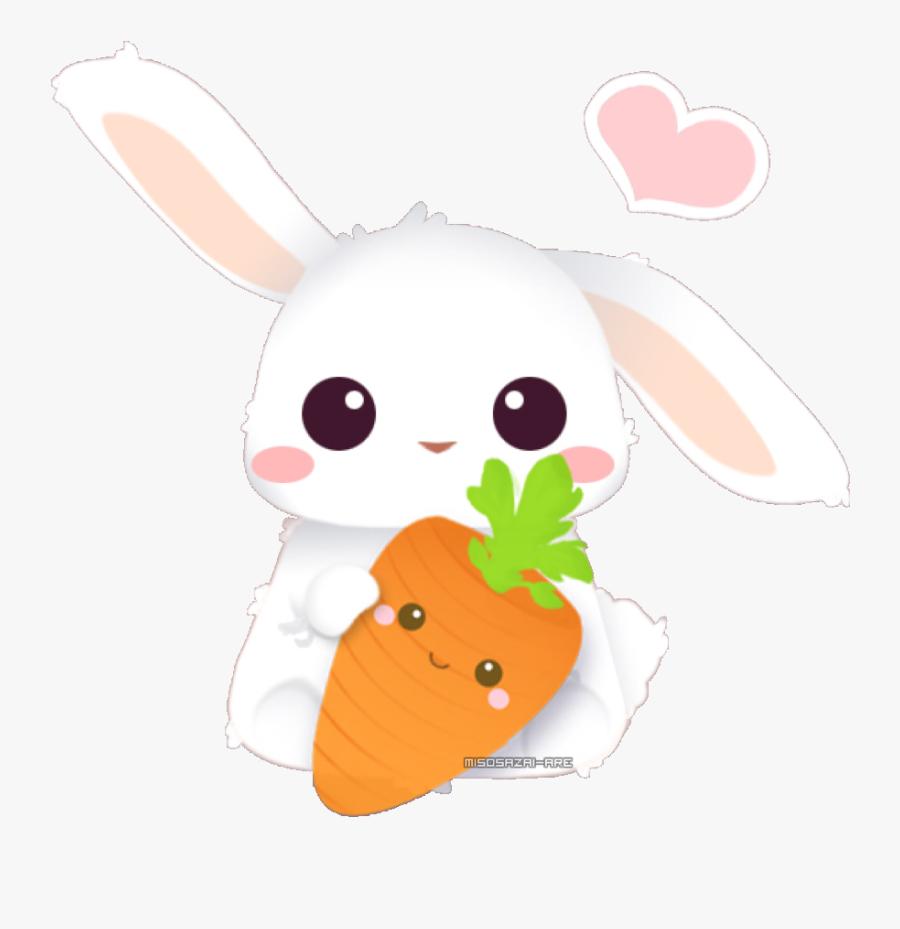 Beautiful Bunny Kawaii Cute Carrots Bunnyandcarrot Rabbit Free Transparent Clipart Clipartkey