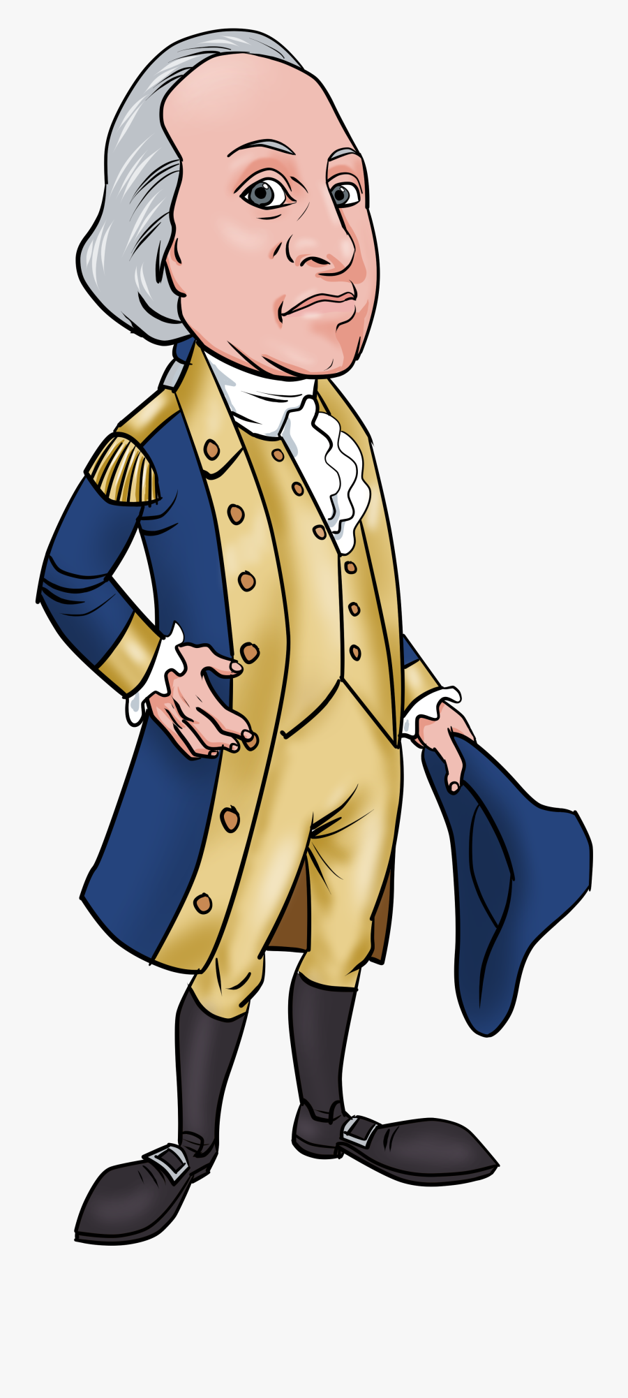 Transparent Chavo Animado Png - Cartoon George Washington Clipart, Transparent Clipart