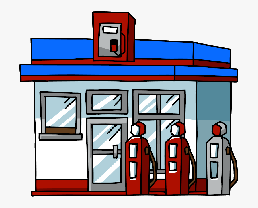 Gas Station - Scribblenauts Wiki - Gas Station Clipart Png, Transparent Clipart