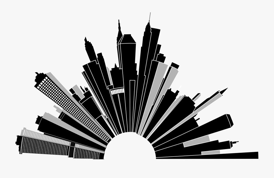 Clipart - Cityscape Clip Art Png, Transparent Clipart