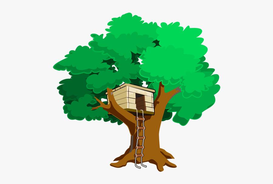 Tree House Clip Art, Transparent Clipart