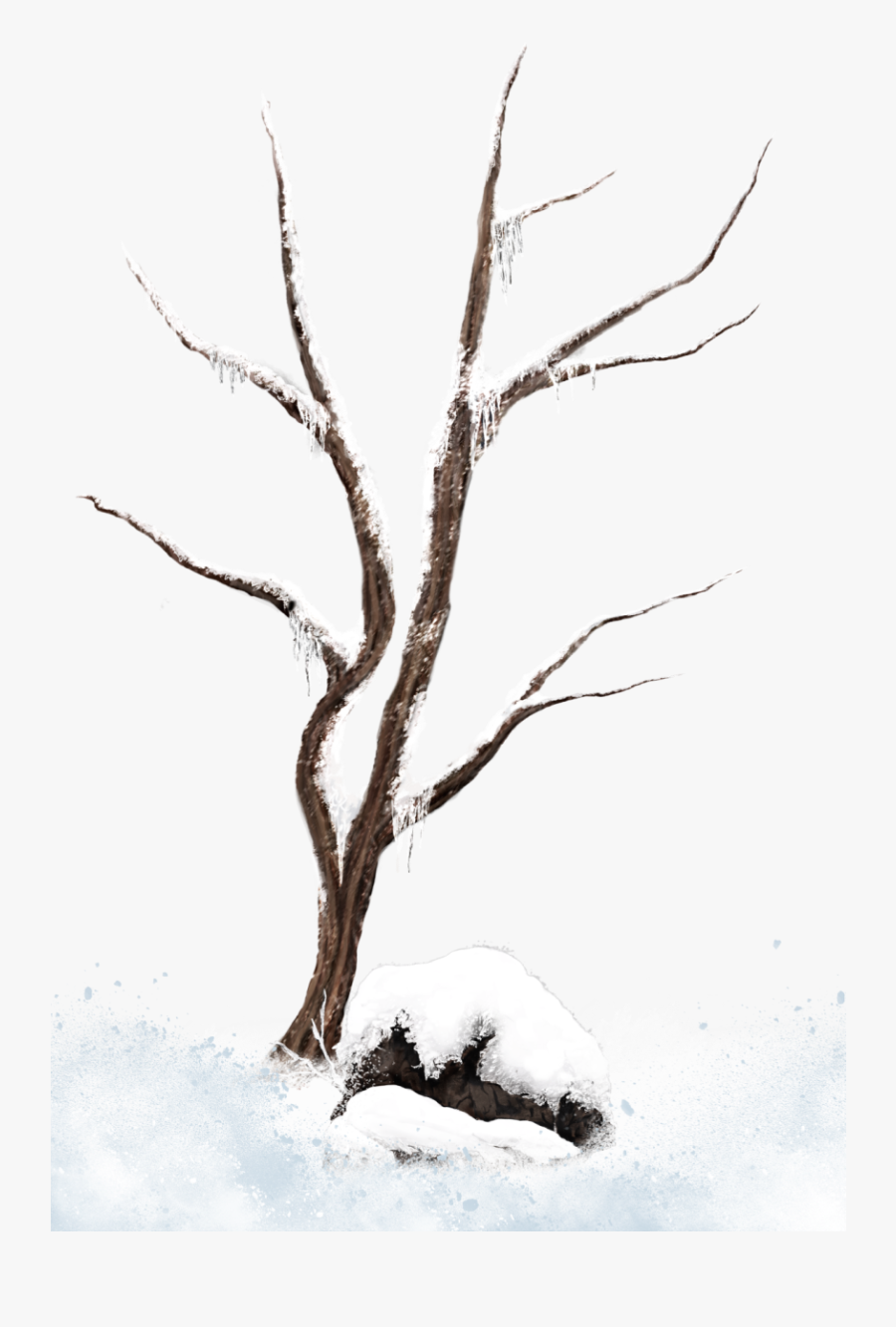Winter Tree Branches Clip Art Clipart Free Download - Snowy Trees Clip Art, Transparent Clipart