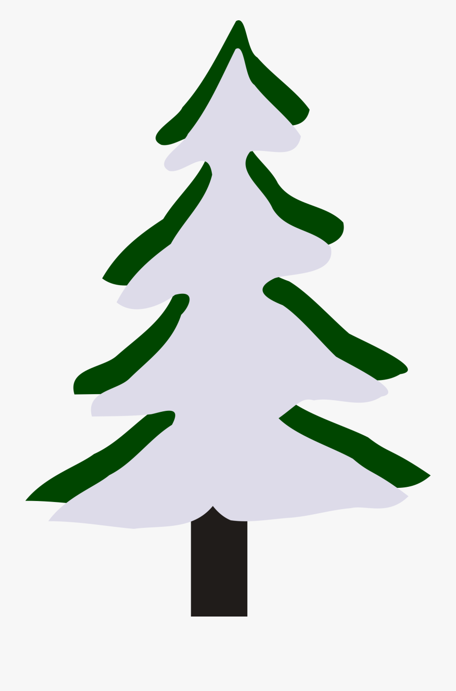 Pine Tree In Winter - Tree Winter Cartoon Png, Transparent Clipart