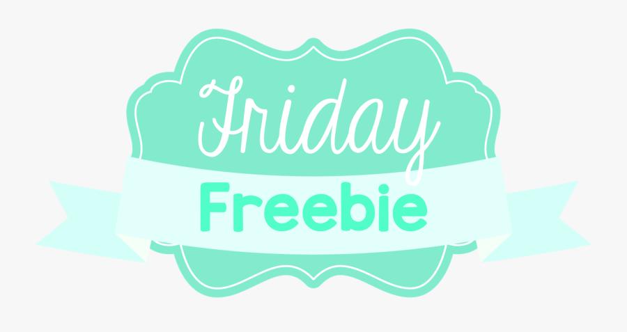 Friday Freebies, Transparent Clipart