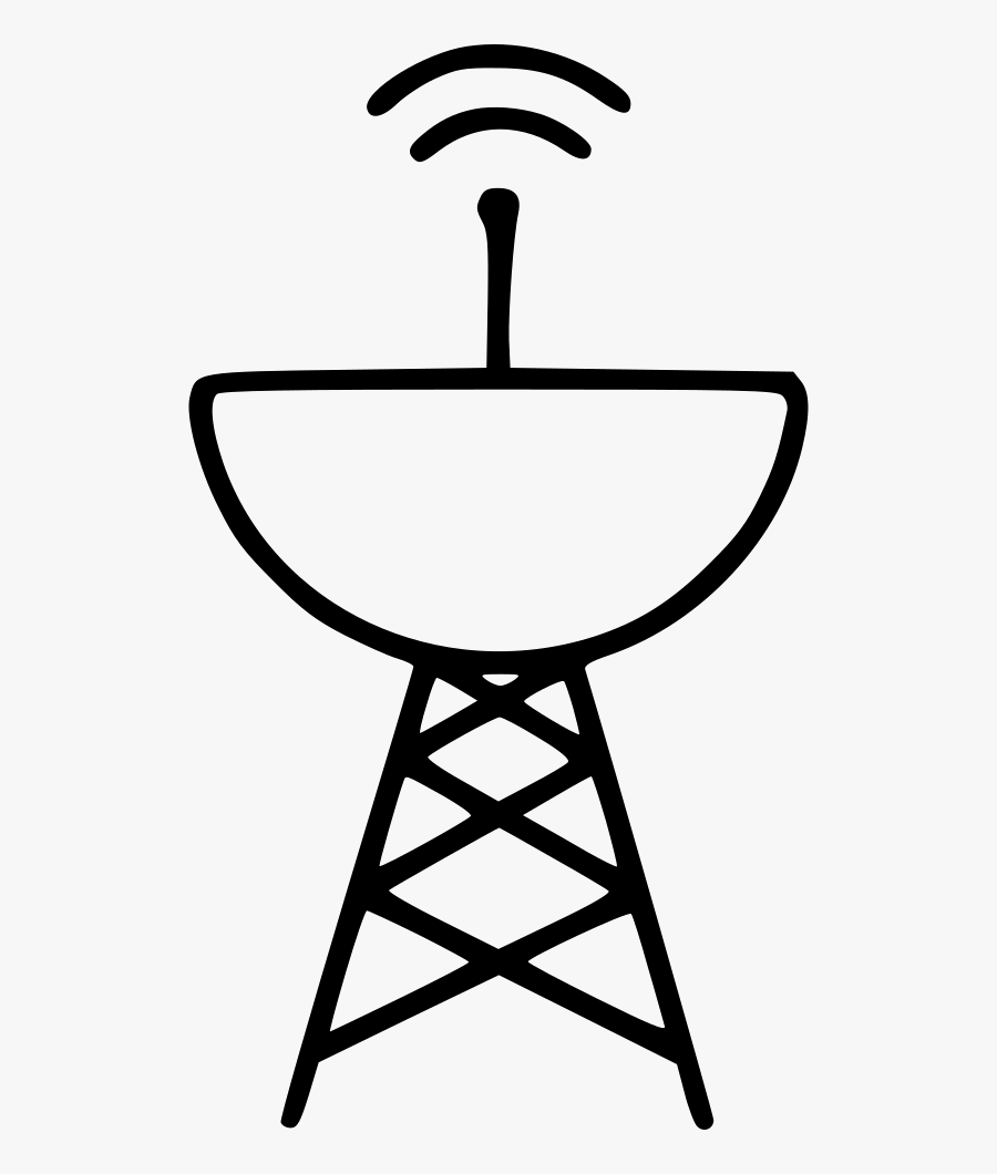 Clip Art Radar Satellite Antenna Radio - Tower Network, Transparent Clipart