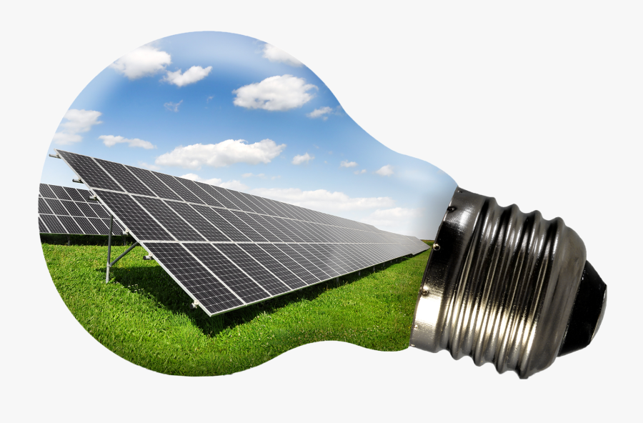 Solar Energy Light Bulb, Transparent Clipart