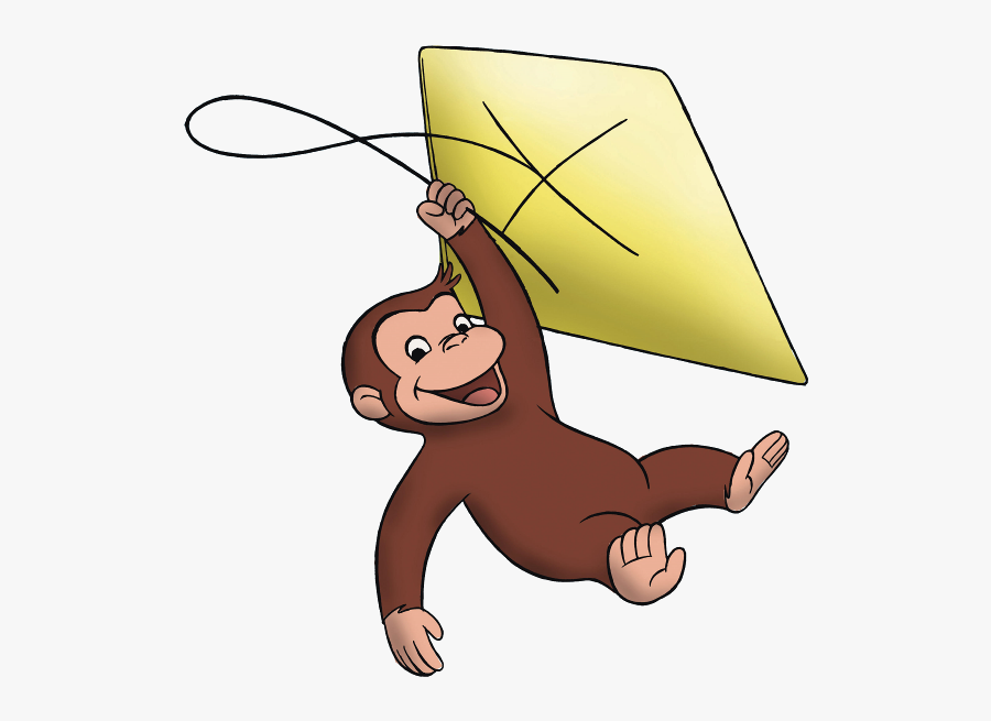 Curious George - Curious George With Kite, Transparent Clipart