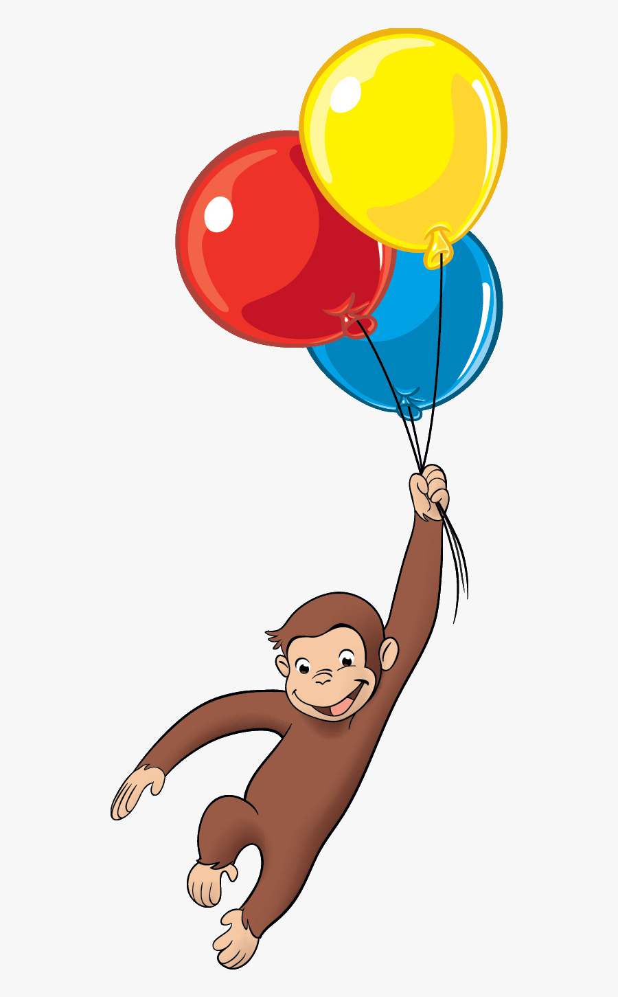 Curious George Png - Curious George Balloons Png, Transparent Clipart