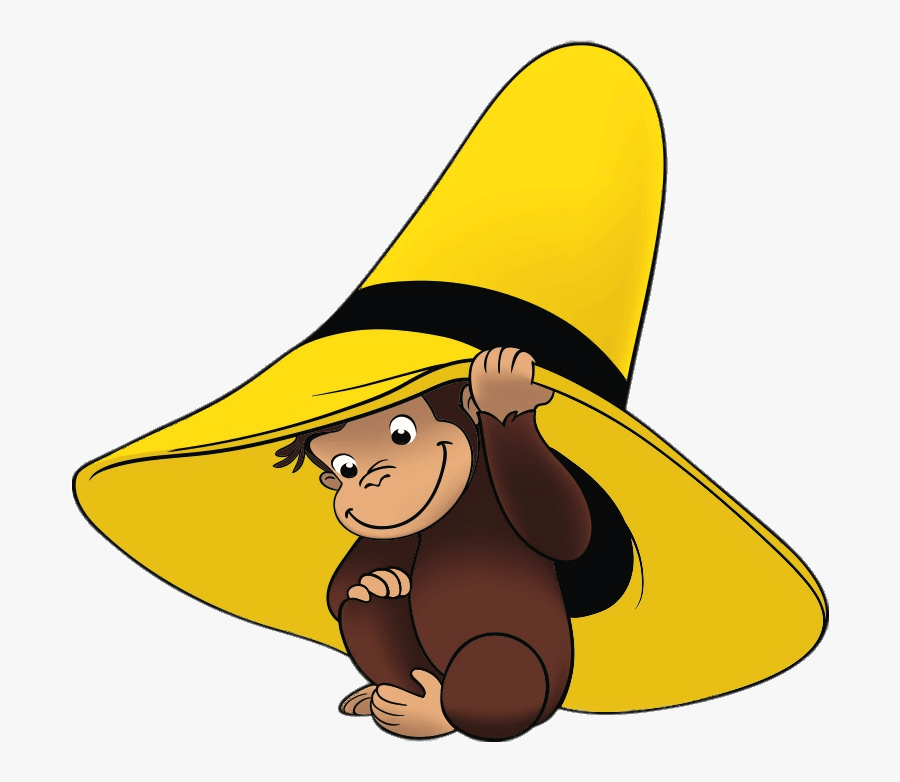 Curious George Underneath The Yellow Hat - Curious George With Yellow Hat, Transparent Clipart