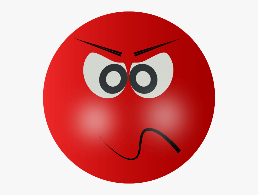Clip Art Angry Mean Smiley Clipart - Red Mad Face Transparent, Transparent Clipart