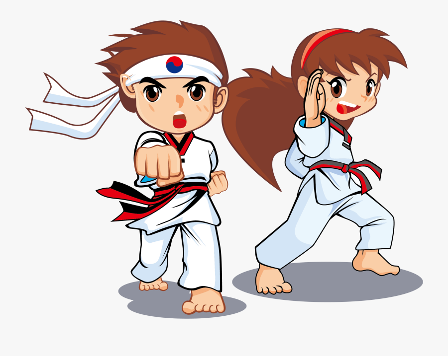 Boys Clipart Taekwondo Taekwondo Cartoon Free Transparent Clipart Clipartkey