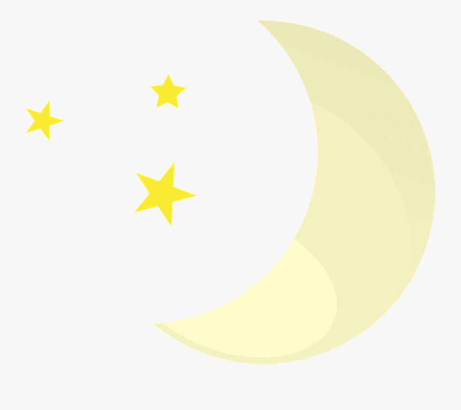 Moon, Stars, Night, Clear, Weather, Weather Forecast - Weather Symbols Clear Night, Transparent Clipart