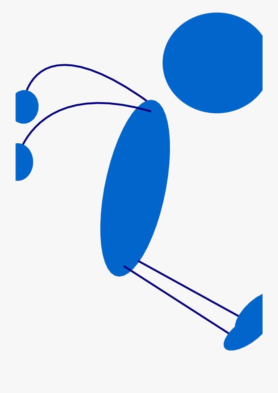 Transparent Stick Man Clipart - Stick Man Jumping, Transparent Clipart