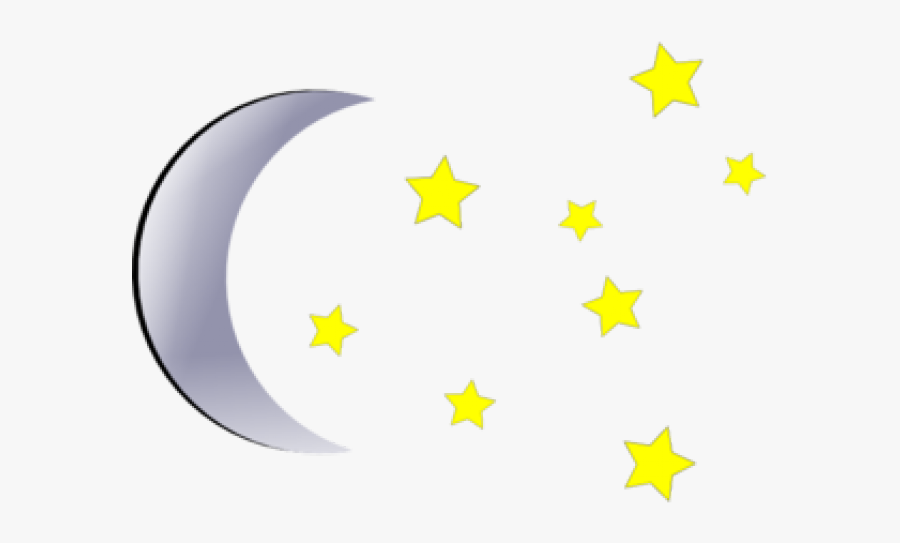 Stars And Moon Clipart - Moon And Stars Clipart, Transparent Clipart