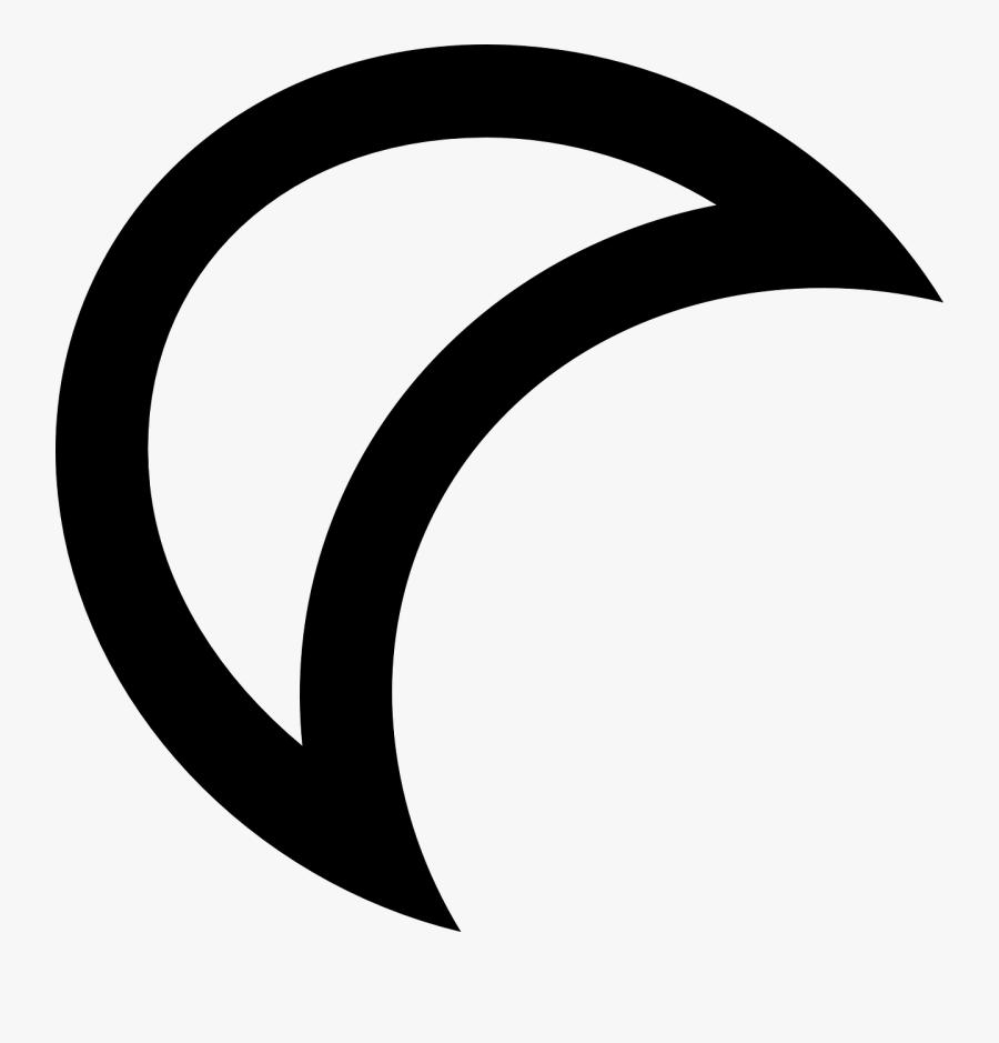 Moon Outline Clip Art - Logo Luna Blanco Y Negro, Transparent Clipart