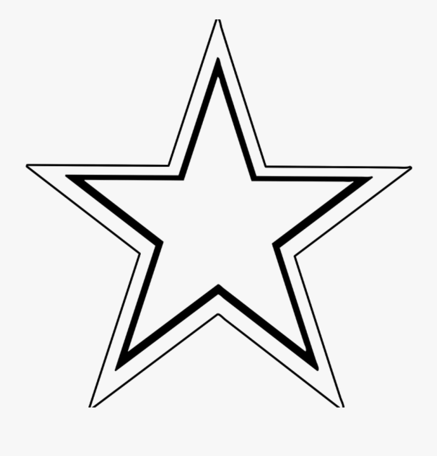 Shooting Star Clipart Simple - Outline Images Of Star, Transparent Clipart