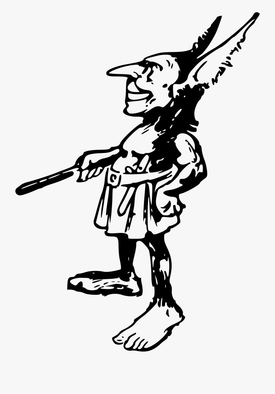 Elf Troll Guy - Illustration, Transparent Clipart