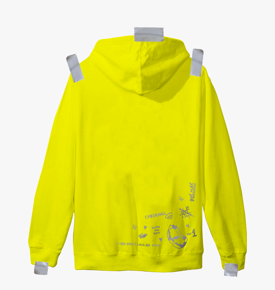 Cybear Monday Patch Hoodie - Piumino Giallo Colmar Donna, Transparent Clipart